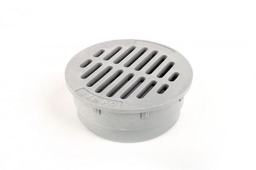 "G4RFC - Grey 4"" Round Flat Grate"