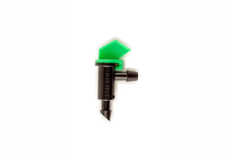 ETA20G - 2.0 gph Light Green Take Apart Flag Emitter